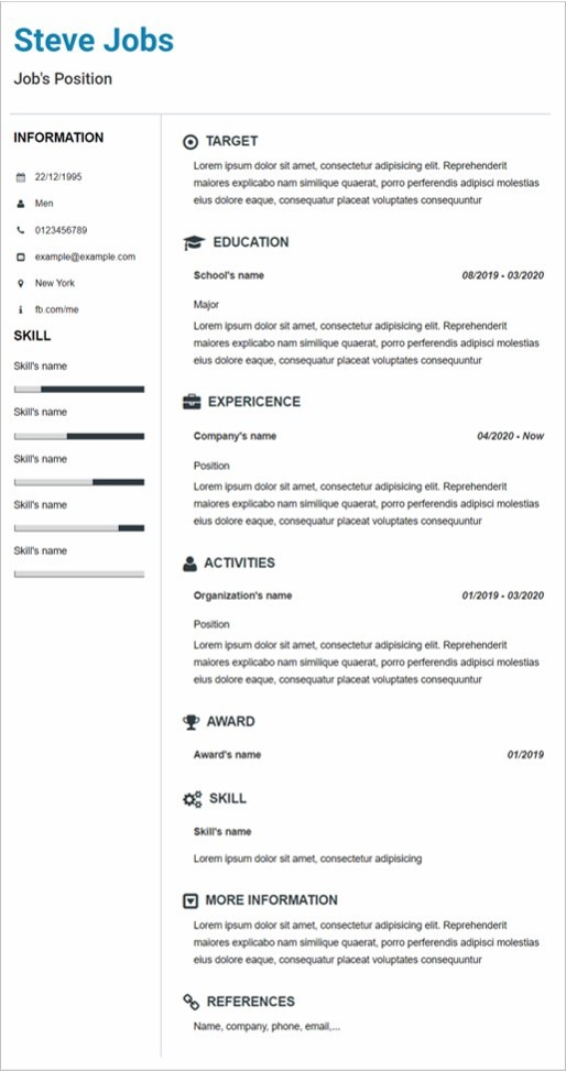 Resume Professional 2 Template